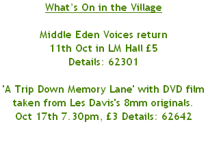 What's On in the Village